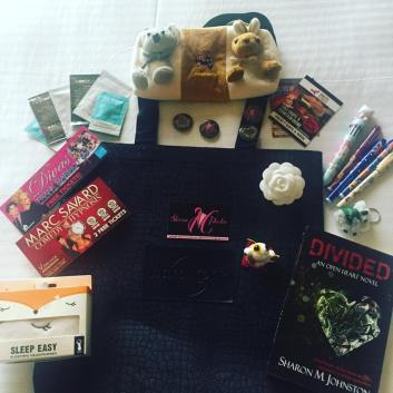 My Prize Bag for the Pitch Wars Roadshow event