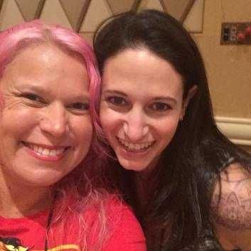 Me with fellow Pitch Wars mentor Kelly Siskind