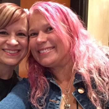 Original YAtopian & friend Wendy Higgins & I catch up